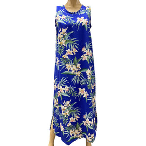 Ginger Orchid Royal Long Tank Dress