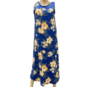 Hibiscus Resort Navy Long Tank Dress