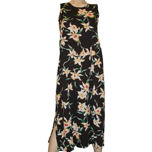 Star Orchid Black Long Tank Dress