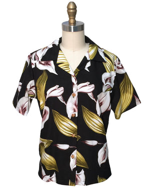 Women's Calla Lily Black Campshirt