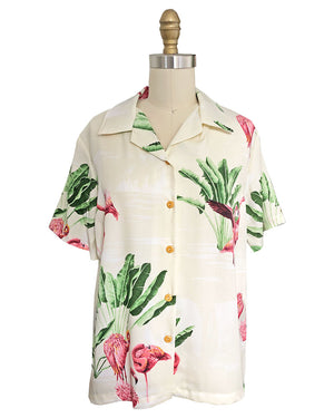 Women's Flamingo Retreat Beige Campshirt