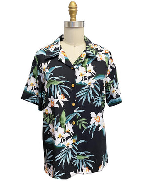 Women's Ginger Orchid Black Camp Shirt