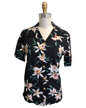 Women's Magnum Orchid Black Camp Shirt