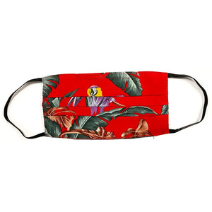 Jungle Bird Red Aloha Face Covers (Pack of 2)