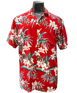Ginger Orchid Red Hawaiian Shirt