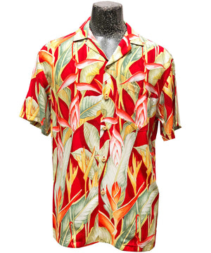 Heliconia Heaven Red Hawaiian Shirt