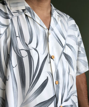 Islander Fronds Cream Hawaiian Shirt