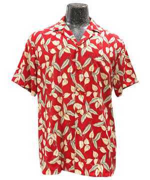 Magnum Anthurium Red Hawaiian Shirt
