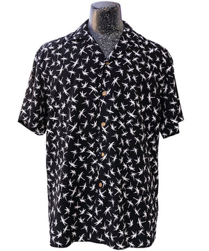 Midnight Bamboo (Magnum PI) Black Hawaiian Shirt