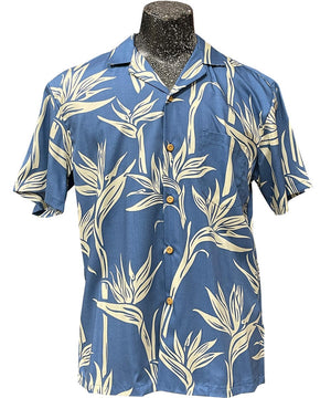 Pareau Paradise Blue Hawaiian Shirt