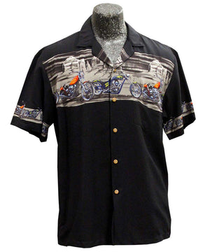 Desert Rider Black Hawaiian Shirt