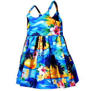Diamond Head Sunset Blue Girl's Bungee Dress