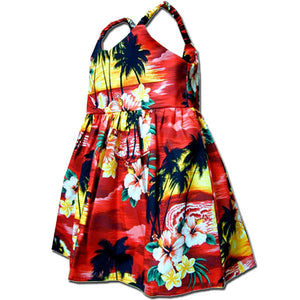 Diamond Head Sunset Red Girl's Bungee Dress