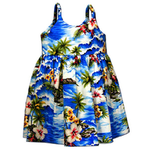 Diamond Head Beach Blue Girl's Bungee Dress