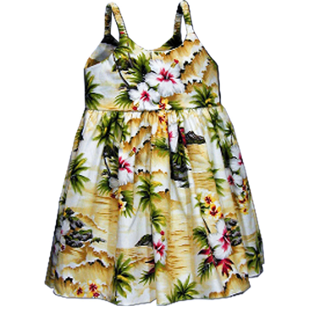 Diamond Head Beach Maize Girl's Bungee Dress