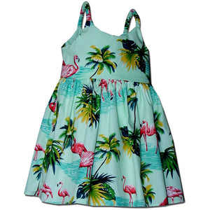 Feisty Flamingo Sage Bungee Dress