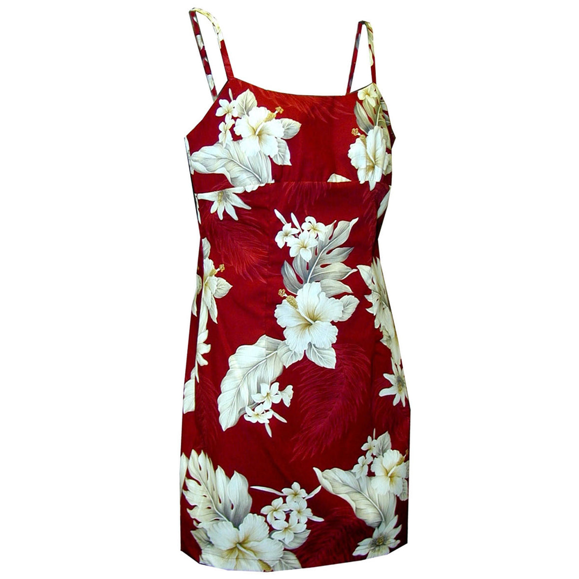 Floral Garden Red Short Spaghetti Dress