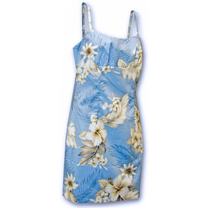 Floral Garden Sky Short Spaghetti Dress