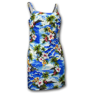 Diamond Head Beach Blue Short Spaghetti Dress