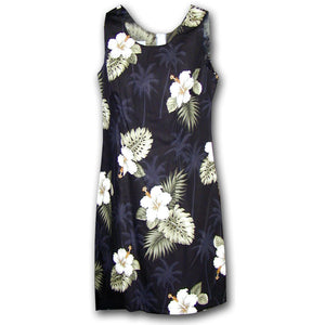 Kilauea Black Short Tank Dress