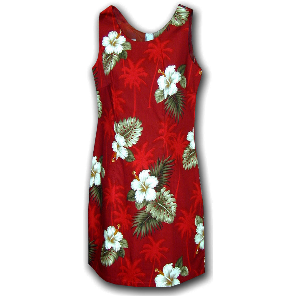 Kilauea Red Short Tank Dress