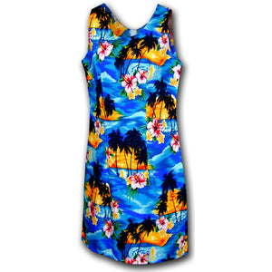 Diamond Head Sunset Blue Short Tank Dress