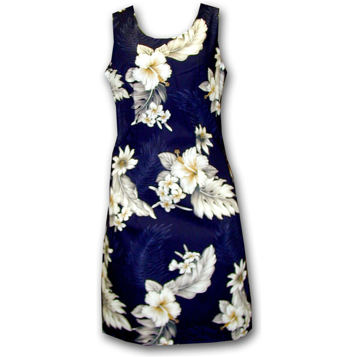 Floral Garden Navy Short Tank Dress