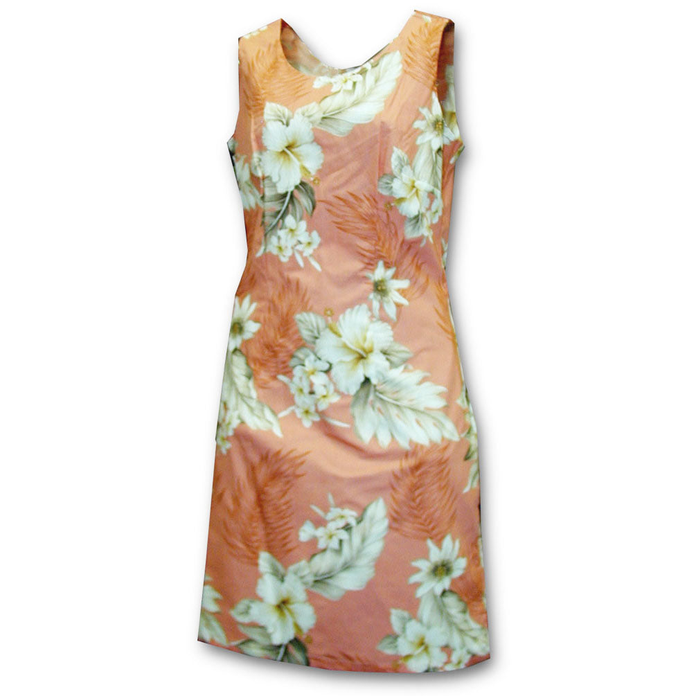 Floral Garden Peach Short Tank Dress