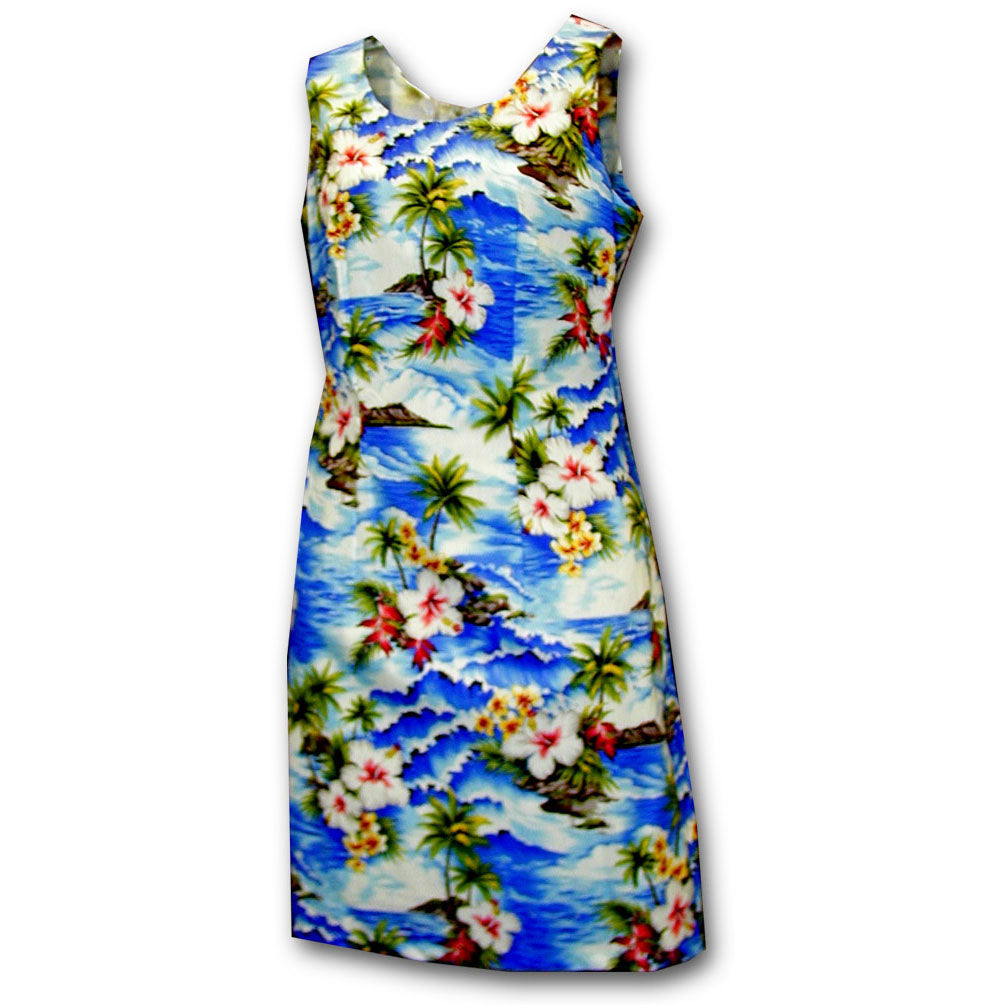 Diamond Head Beach Blue Short Tank Dress