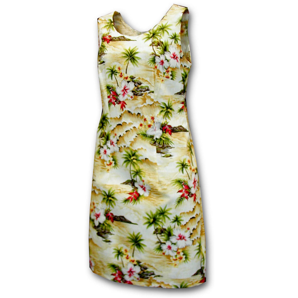 Diamond Head Beach Maize Short Tank Dress
