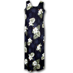 Kilauea Black Long Tank Dress