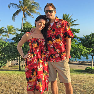 Diamond Head Sunset Red Spaghetti Tube Dress