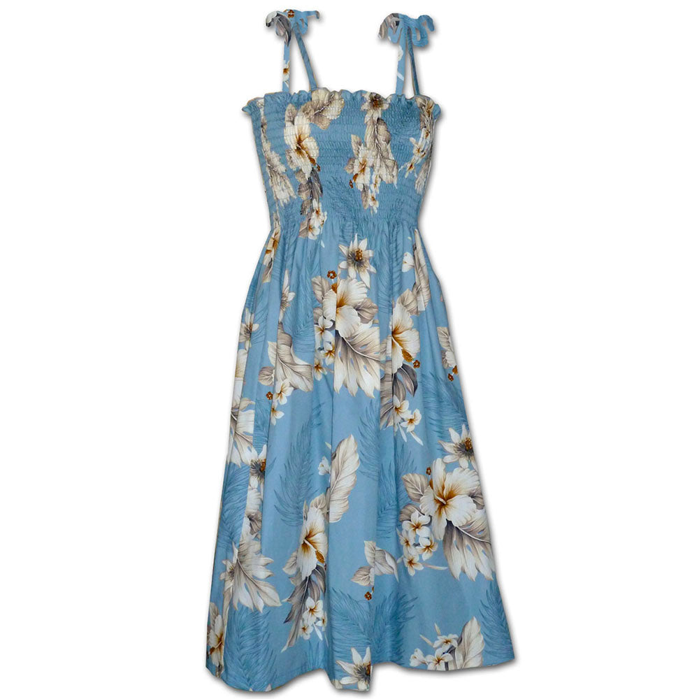 Floral Garden Sky Spaghetti Tube Dress