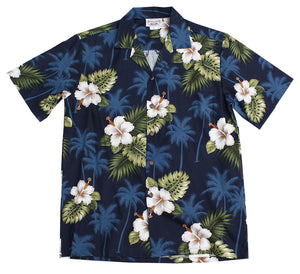 Kilauea Navy Hawaiian Shirt