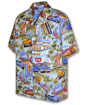 Scenic Route 66 Blue Hawaiian Shirt