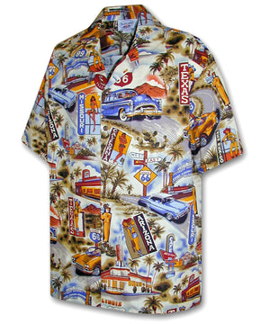 Scenic Route 66 Sand Hawaiian Shirt