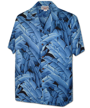 Banana Leaf Vision Blue Hawaiian Shirt