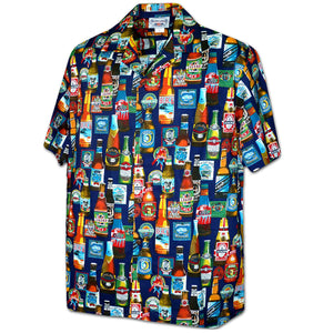 Beer Blast Navy Hawaiian Shirt