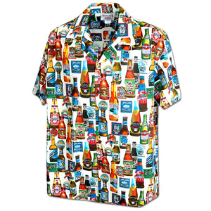 Beer Blast White Hawaiian Shirt