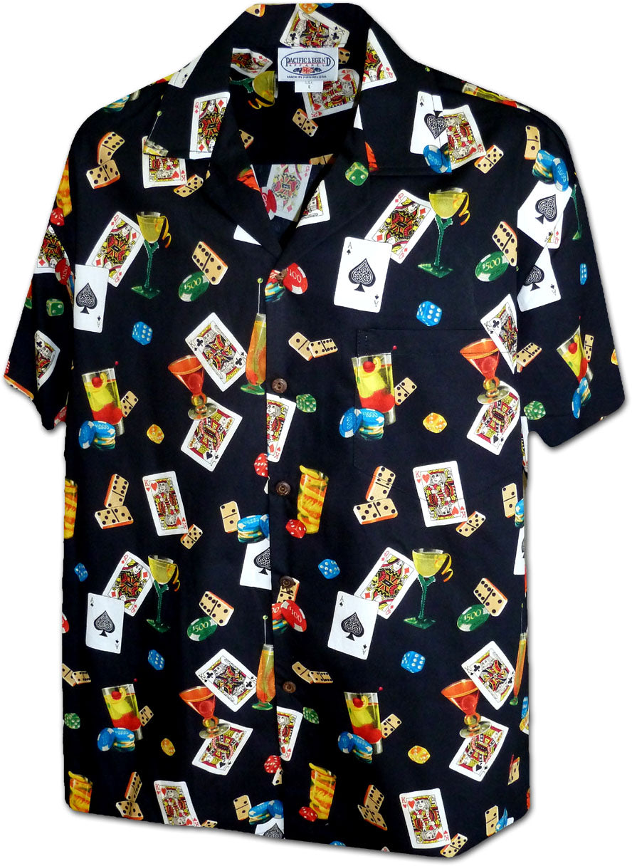 Lucky Las Vegas Black Hawaiian Shirt