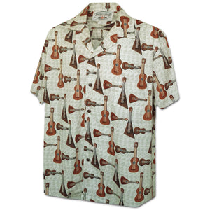 Ukulele Time Cream Hawaiian Shirt