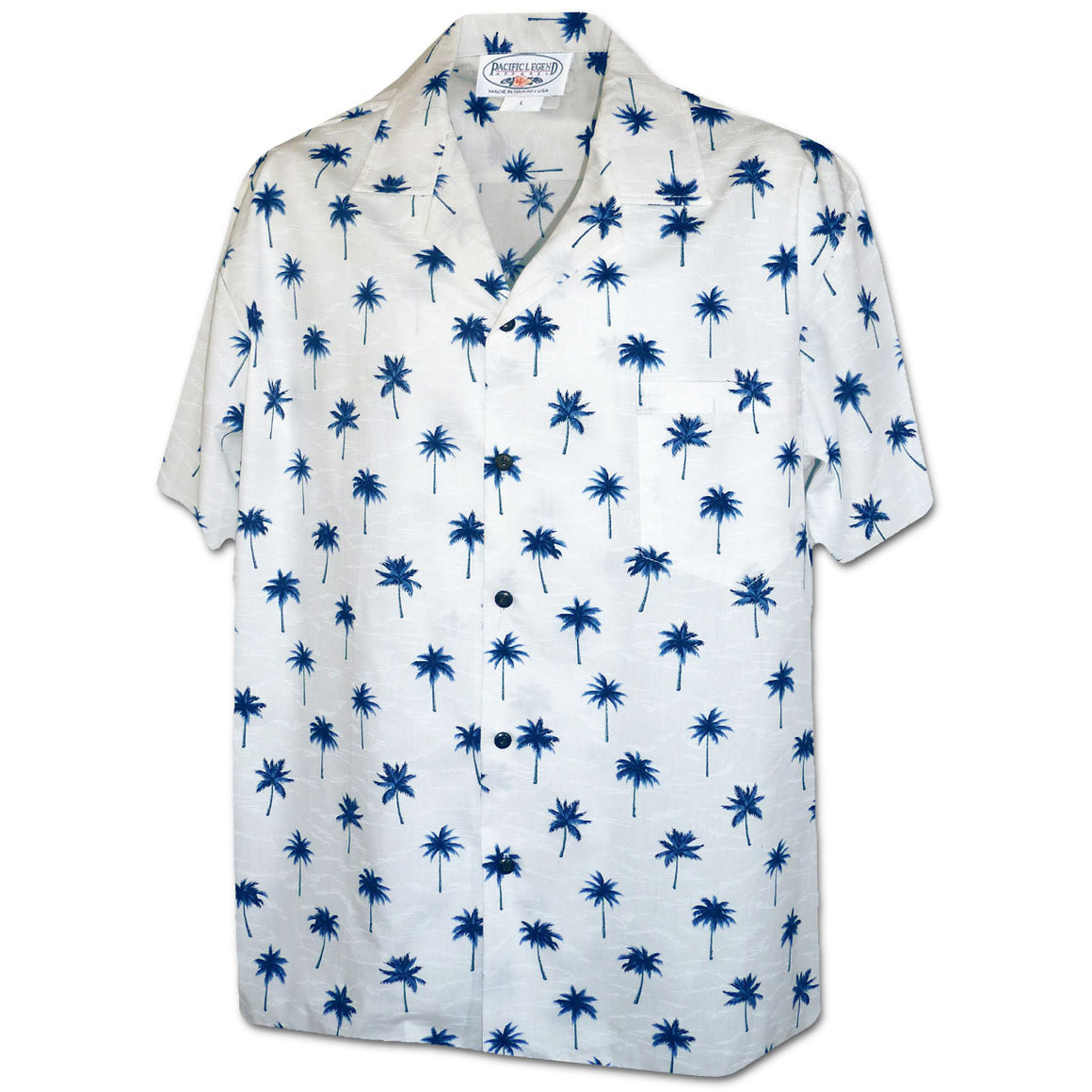 Palm Tree Grove Blue Hawaiian Shirt
