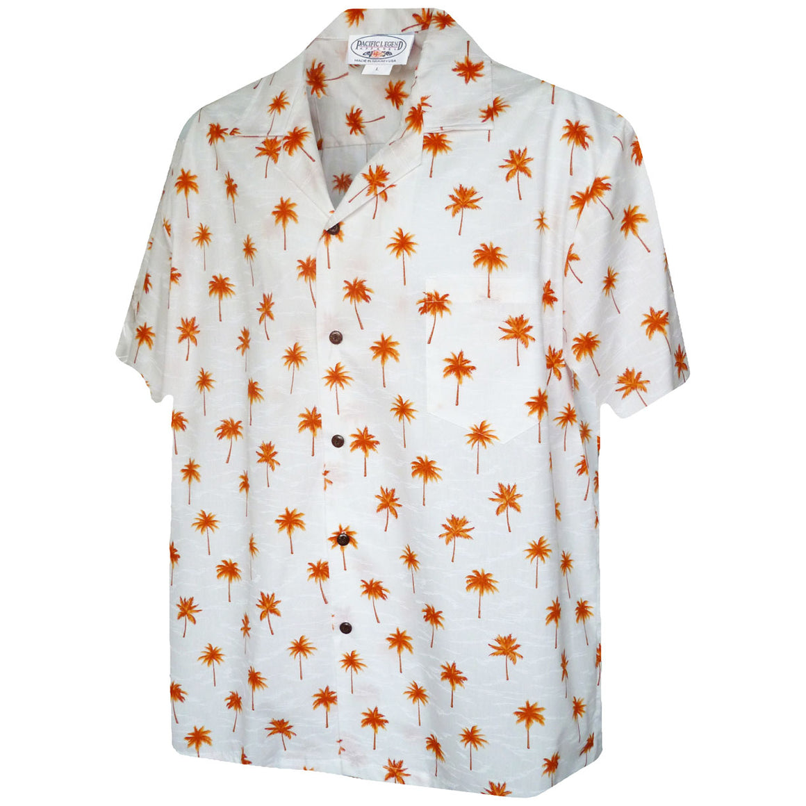 Palm Tree Grove Orange Hawaiian Shirt