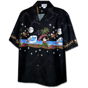 Santa Does Hula Hawaiian Shirt