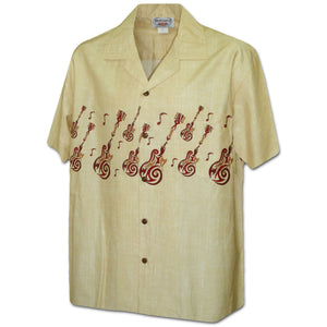 Rock Star Trip Khaki Hawaiian Shirt