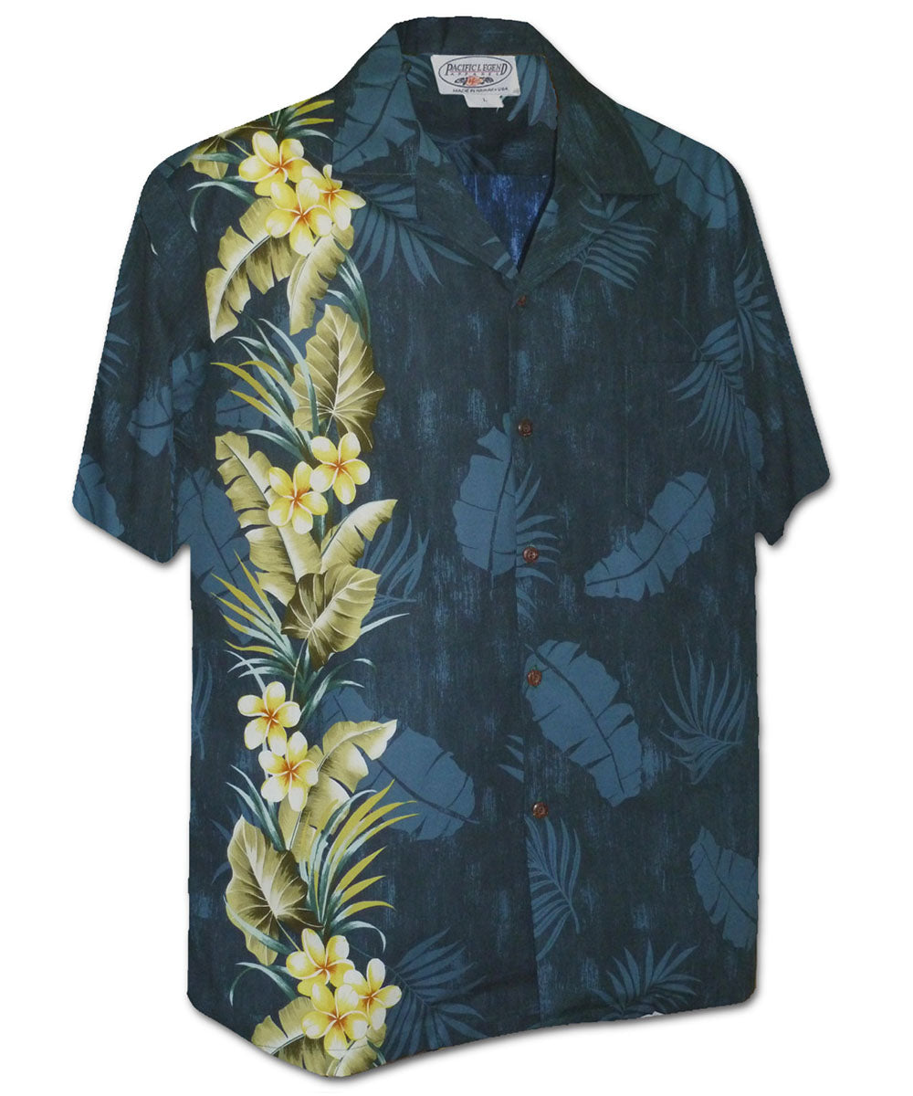 Manoa Garden Navy Hawaiian Shirt