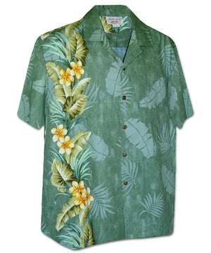 Manoa Garden Sage Hawaiian Shirt