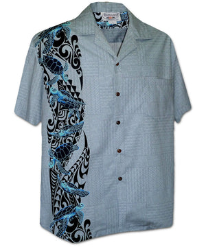 Turtle Spirit Slate Hawaiian Shirt
