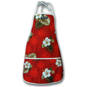 Kilauea Red Hawaiian Print Apron
