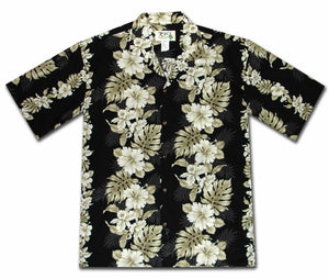 Royal Hibiscus Black Hawaiian Shirt